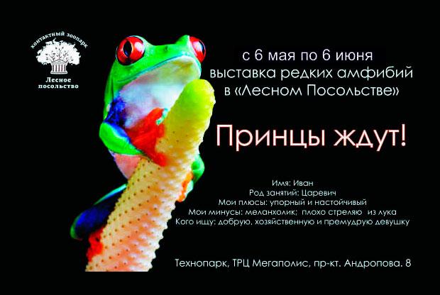 ?Заколдованные принцы: выставка амфибий в Москве - слайд 1