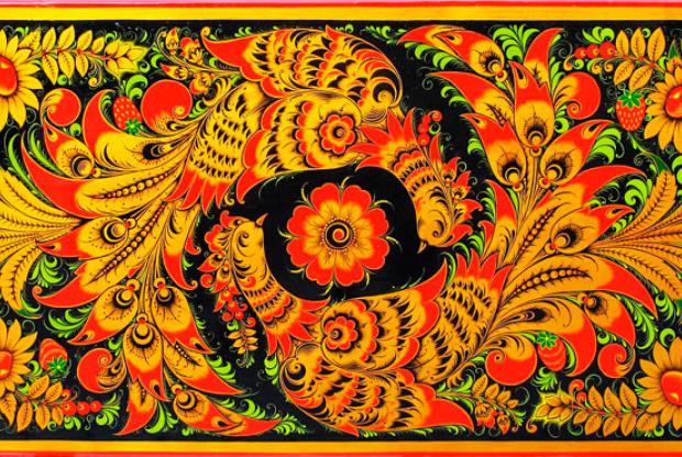 Выставка «Деревянное золото Хохломы» в Хлебном доме музея-заповедника «Царицыно» - слайд 1