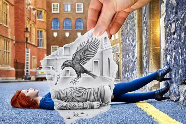 ?Выставка бельгийского художника Бена Хайне «Карандаш против камеры» - слайд 1