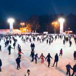 Ночь на катке «Лёд» в парке Сокольники
