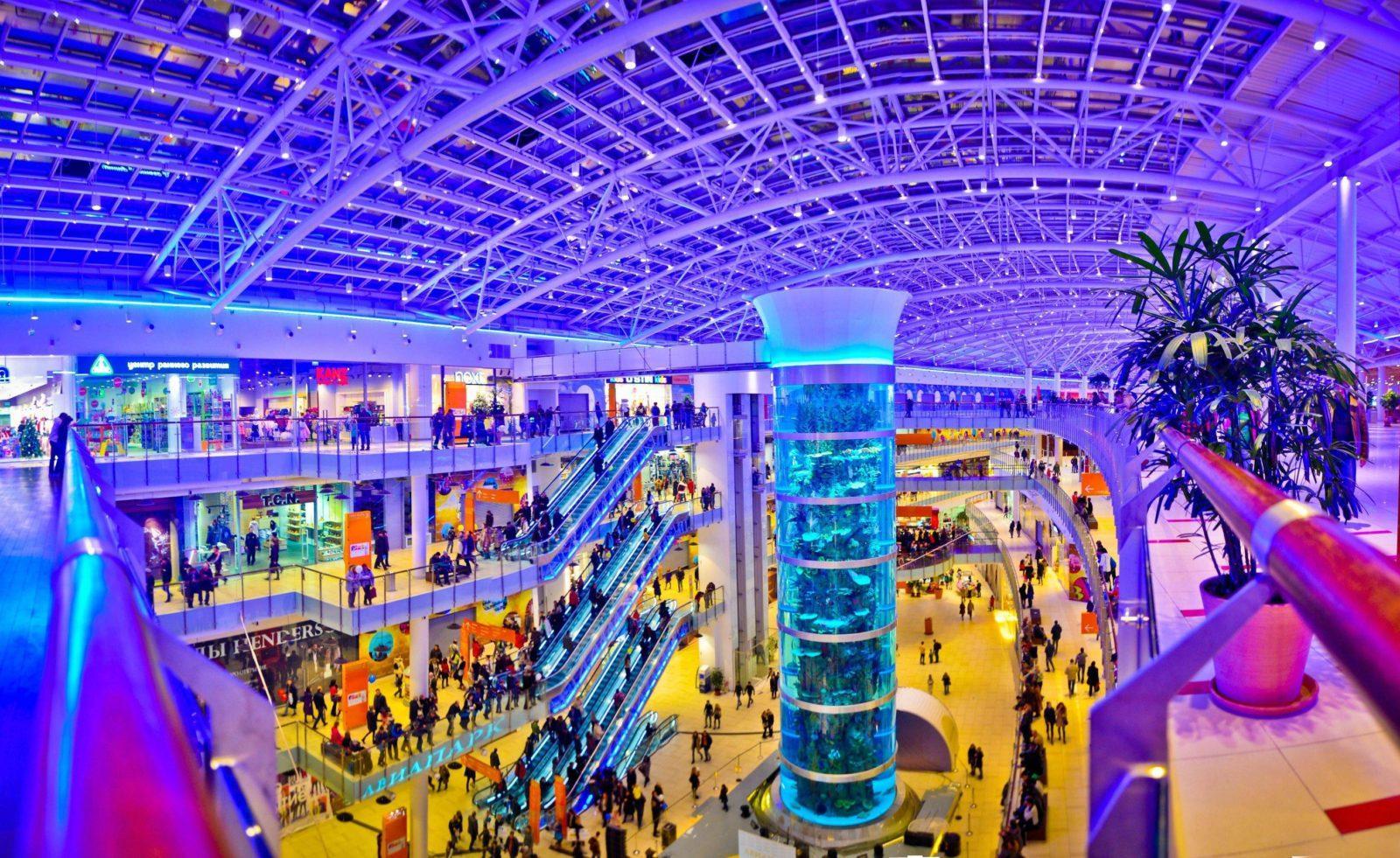 Аквариум торгового центра Авиапарк занесен в Книгу рекордов Гиннесса