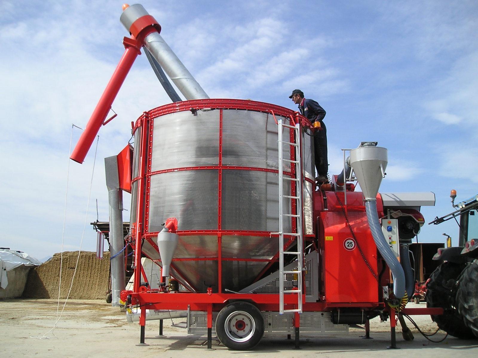 Принцип работы мобильной зерносушилки