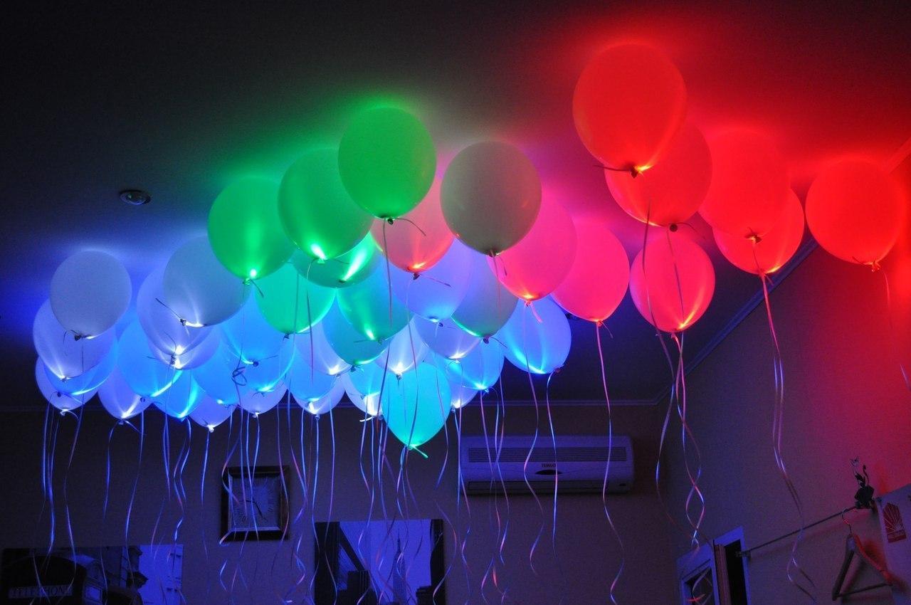 Светящиеся воздушные шары с подсветкой со светодиодами: конструкция, особенности и самостоятельная сборка