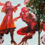 Человек-паук и Черная вдова играют в футбол: где появились граффити к ЧМ-2018