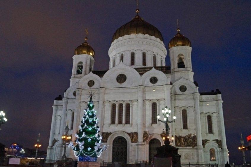 Храм Христа Спасителя новый год 2019