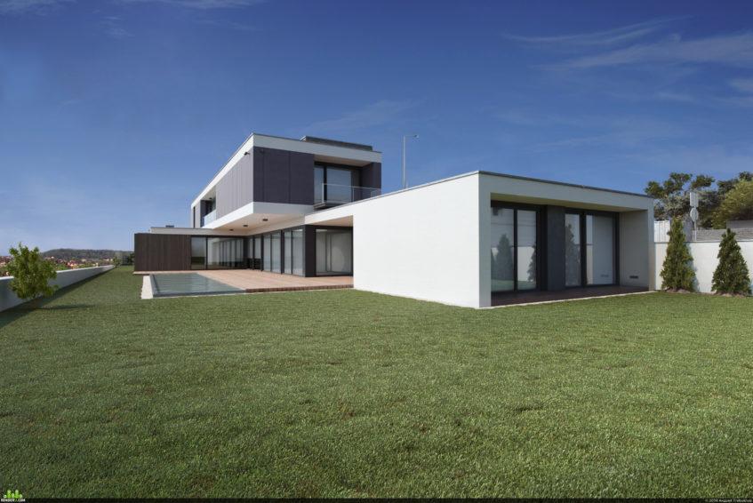Стоимость 3D моделирования экстерьера, зданий и домов