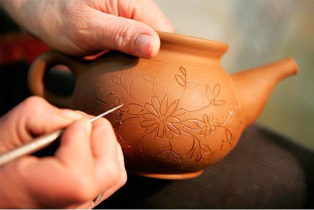 ?Роспись по керамике для детей и взрослых на мануфактуре «Дымов-керамика» - слайд 1