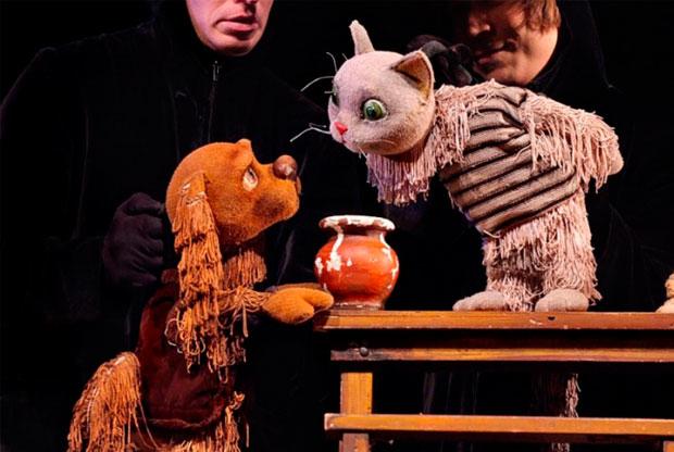 ?Спектакль «Кот Васька и его друзья» в Театре кукол им. С. В. Образцова - слайд 1