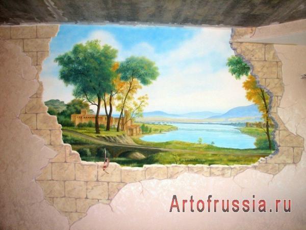 Роспись стен и потолков: красиво, интересно, модно