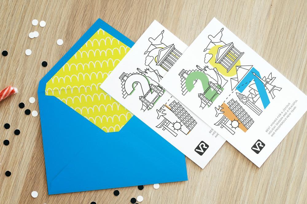 Новогодние корпоративные открытки
