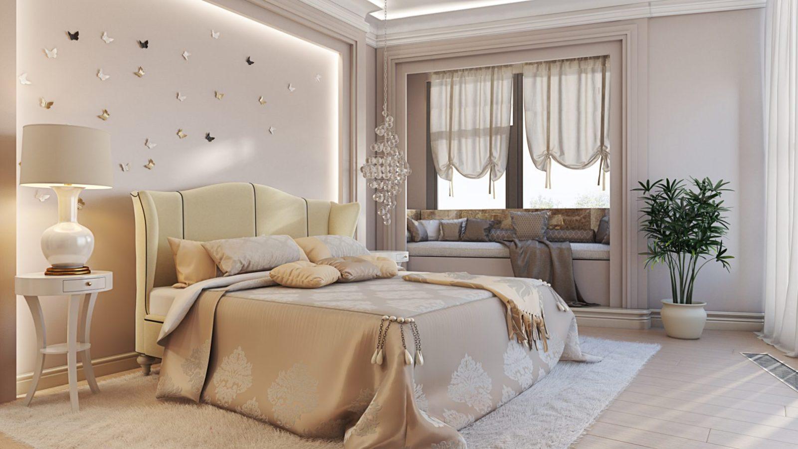Идеальная обстановка в спальне