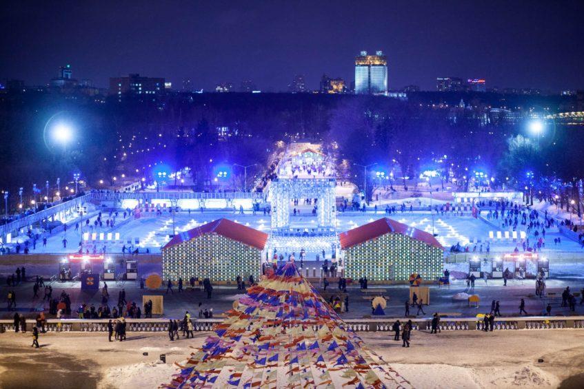 Новый Год в парке Горького