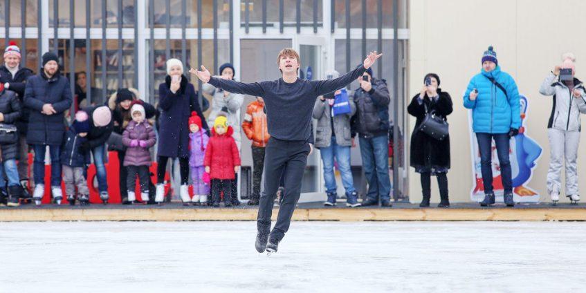 Уроки фигурного катания в парках Москвы!